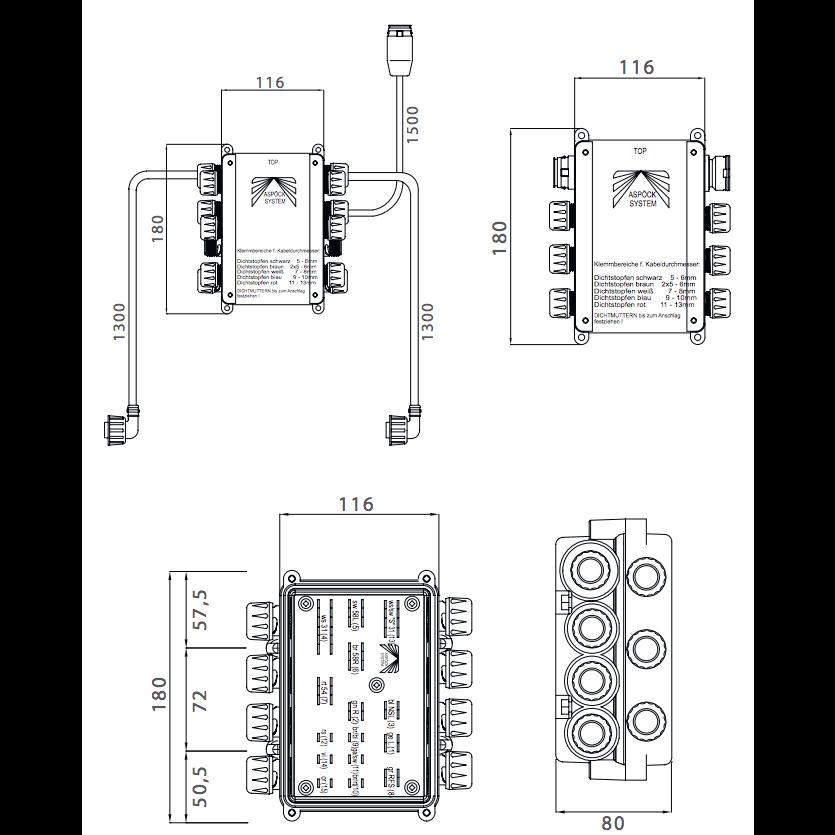 asp u00f6ck 15-ad verbindingskast - electriciteit