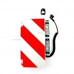 Broshuis Breedteverlichting 220 stekker | LV zwaailampsteun R-W bord 420