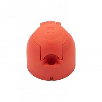 Jaeger stekkerdoos rood 7-polig opbouw