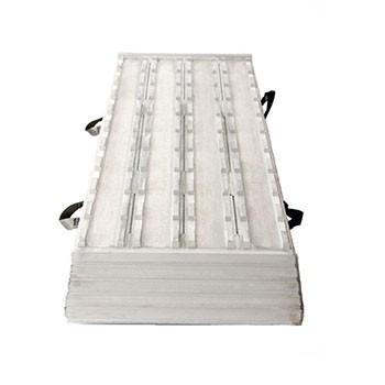 Aluminium enkele oprijklep [L=2400 B=600] 4 baans