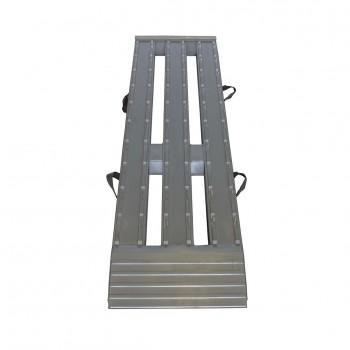 Aluminium enkele oprijklep [L=2400 B=599] 3 baans